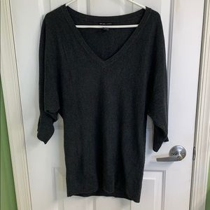 Charcoal gray short sleeve sweater size small